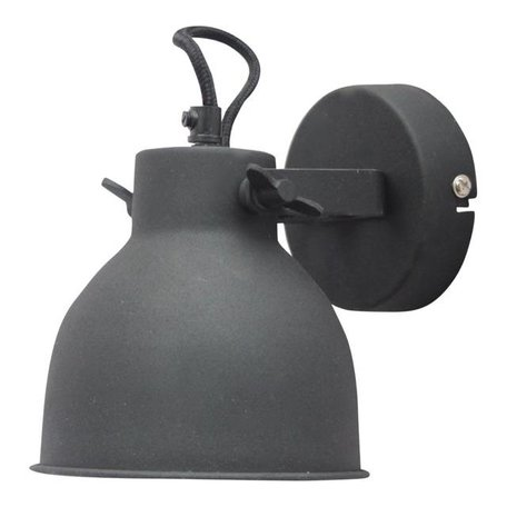 Wandlamp Industrial - vintage zwart - Large