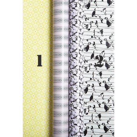 Cadeau papier Spring time - Geel streep nr 1