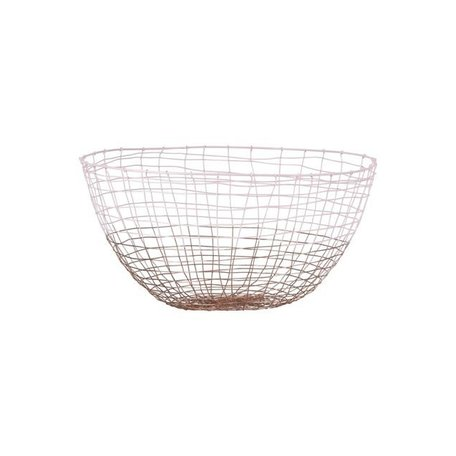 Wire basket Deep - pink / copper