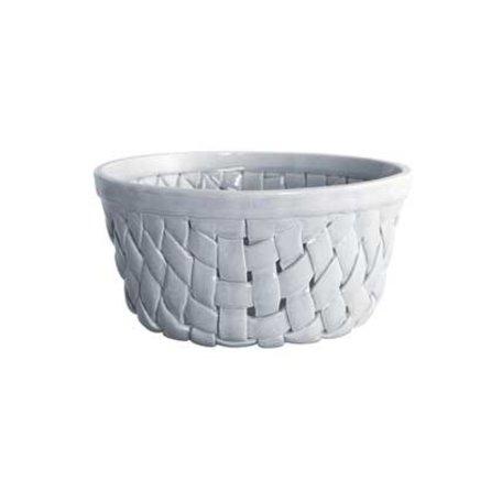 Grey braided bowl