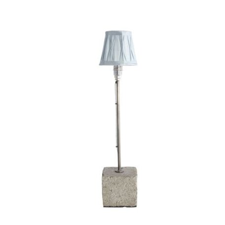Concrete lamp base