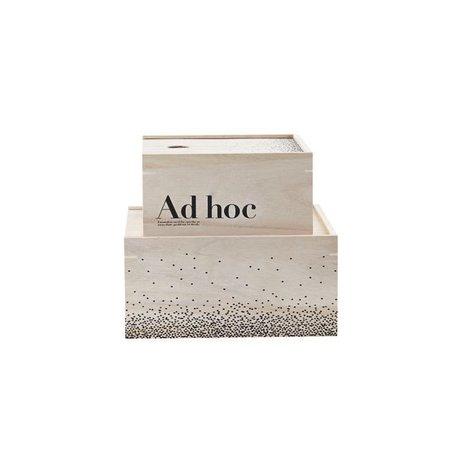 Set van 2 - houten opbergers - Ad hoc