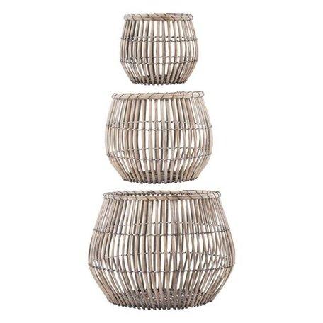 Set of 3 baskets - Nest - round