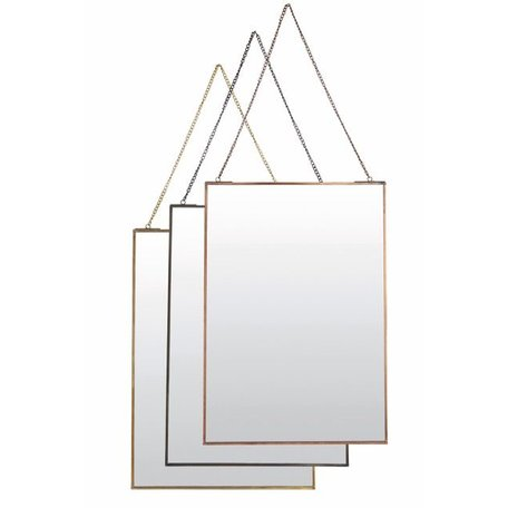 Spiegel Simple - antiek koper