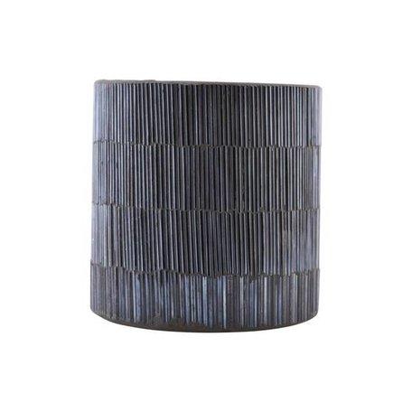 Sfeerlichthouder Pipe - grijs / zwart