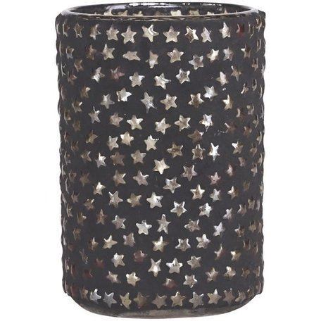 Tealight holder - plenty of star - black