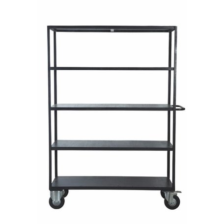 Industrial cabinet on wheels - black