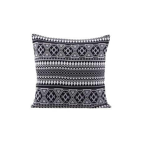 Cushion cover Indi - black white