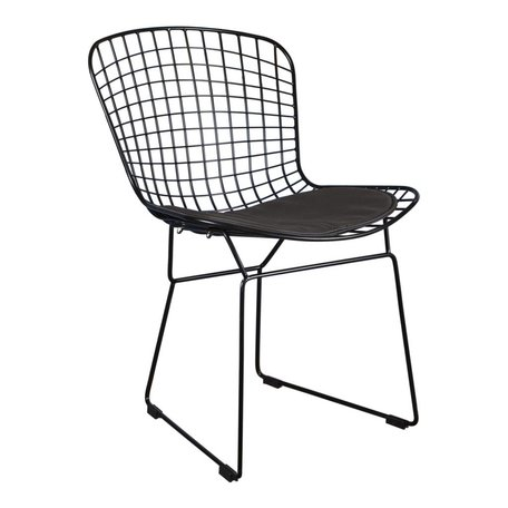 Dining chair / wire chair Bertoia black - incl cushion