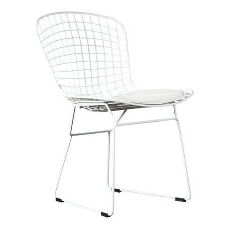 Dining chair / wire chair Bertoia white - incl cushion