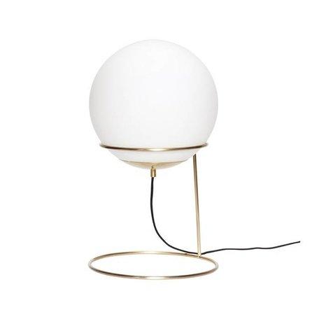 Messing tafellamp - Melkglas bol