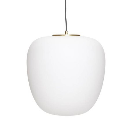 Pendant white glass