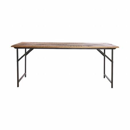 Tafel Party hout - 180 cm x 80 cm