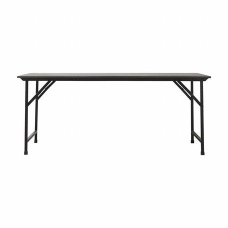 Tafel Party zwart - 180 cm x 80 cm