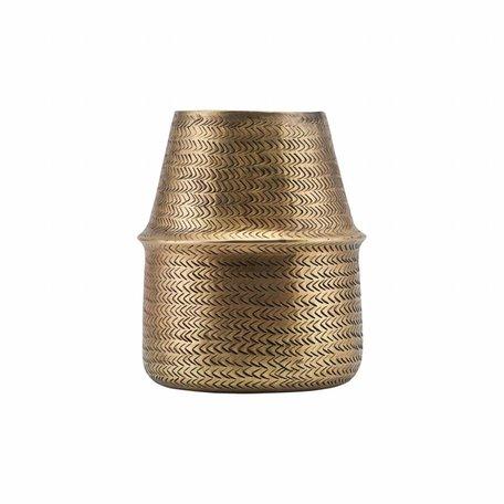 Vase Rattan - Brass -Ø 19 cm