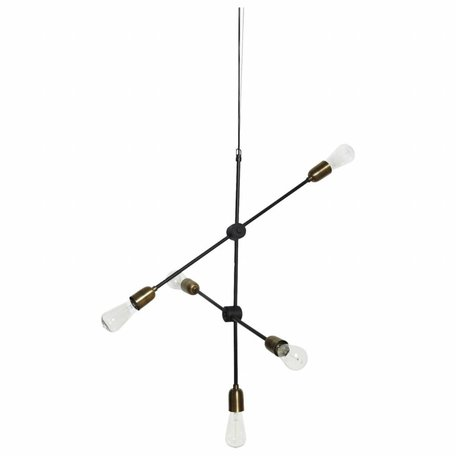 Lamp Molecular - Black / Brass