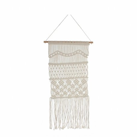 Macrame wallcover - off white