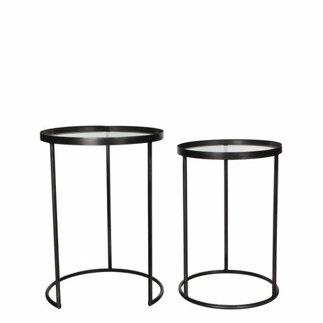 Side tables silver - set of 2