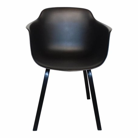 Dining chair with arm - Black
