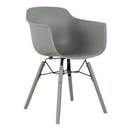 Dining chair with arm - Moss grey