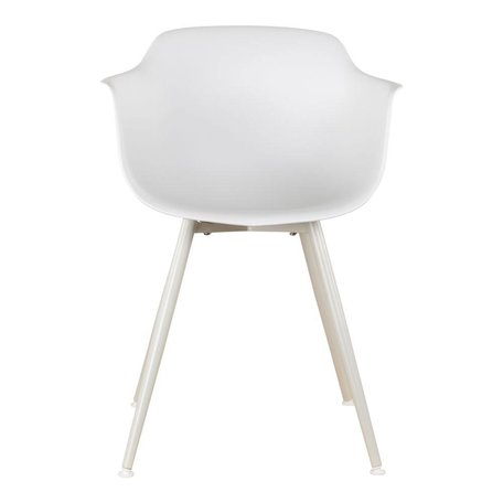 Dining chair with arm - White