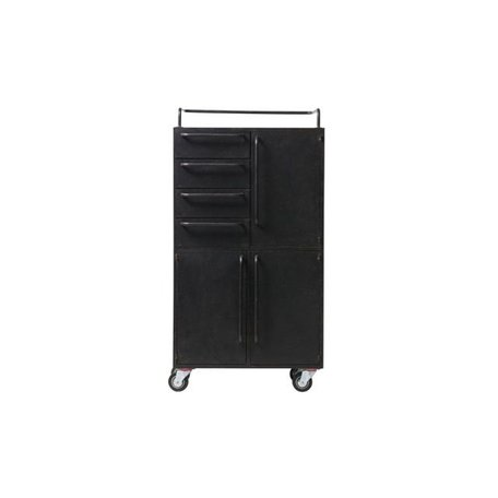 Black beauty cabinet - Black - Metal