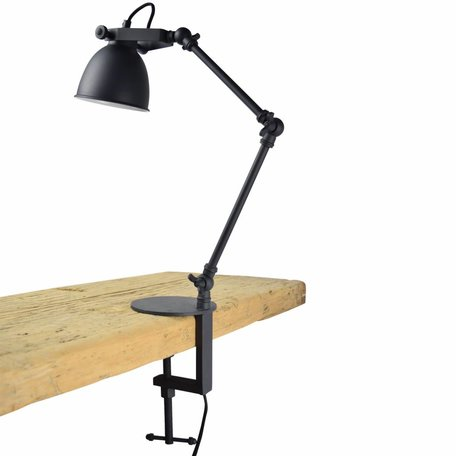 Klemlamp Worker - Zwart