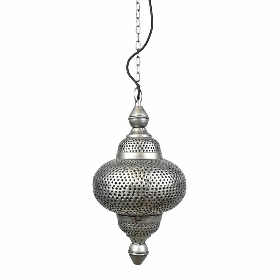 Verwonderlijk Oosterse hanglamp zilver - Urban Interiors Bohemian hanglamp zink IK-87