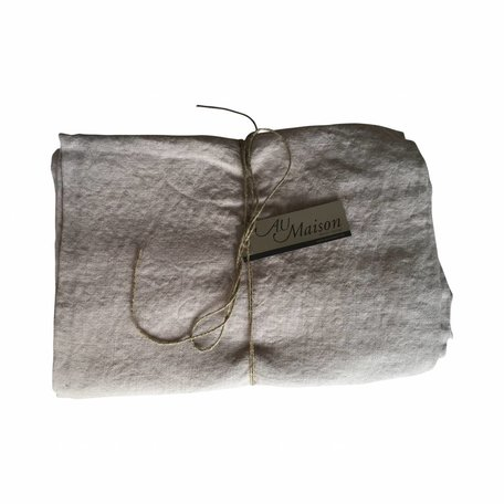 Linnen tafelkleed - washed - licht grijs