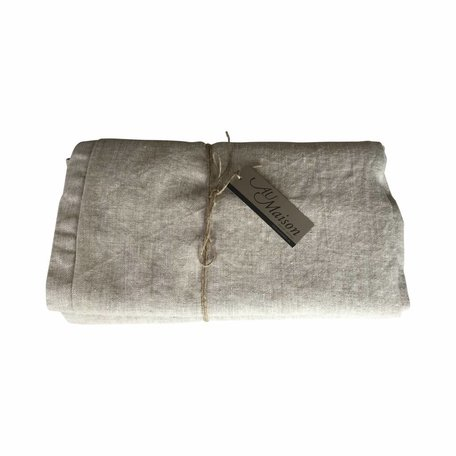 Washed Linen tablecloth  -  Oatmeal