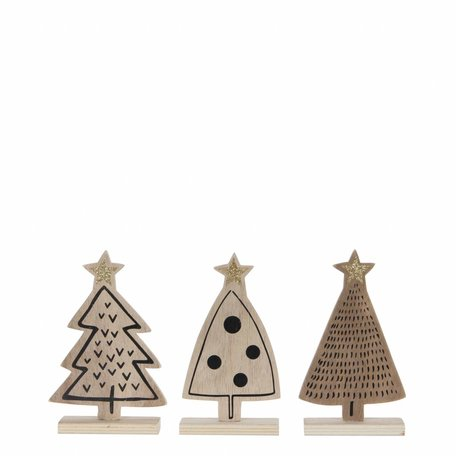 Set of 3 pcs - Trees / Black