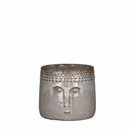 Flowerpot Happy - Grey