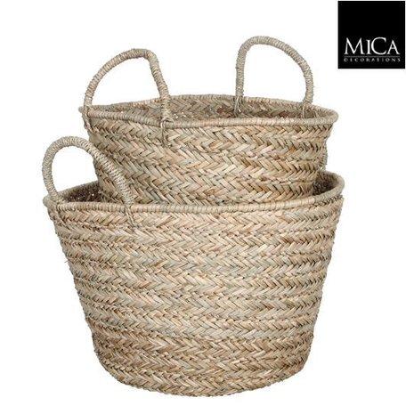 Rattan basket / round - Ø 38 cm