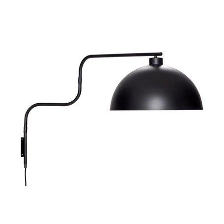 Metalen wandlamp - Zwart