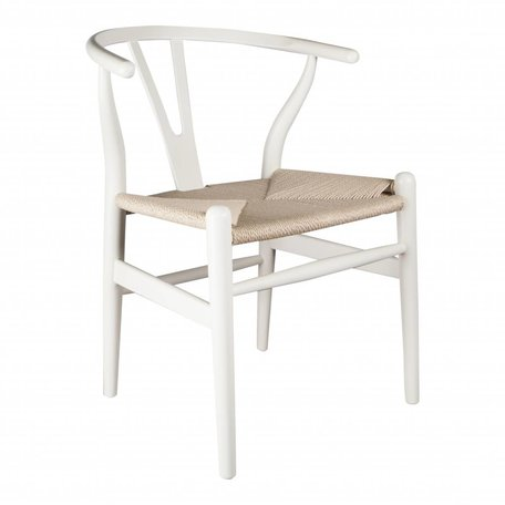 Wishbone chair - Wit
