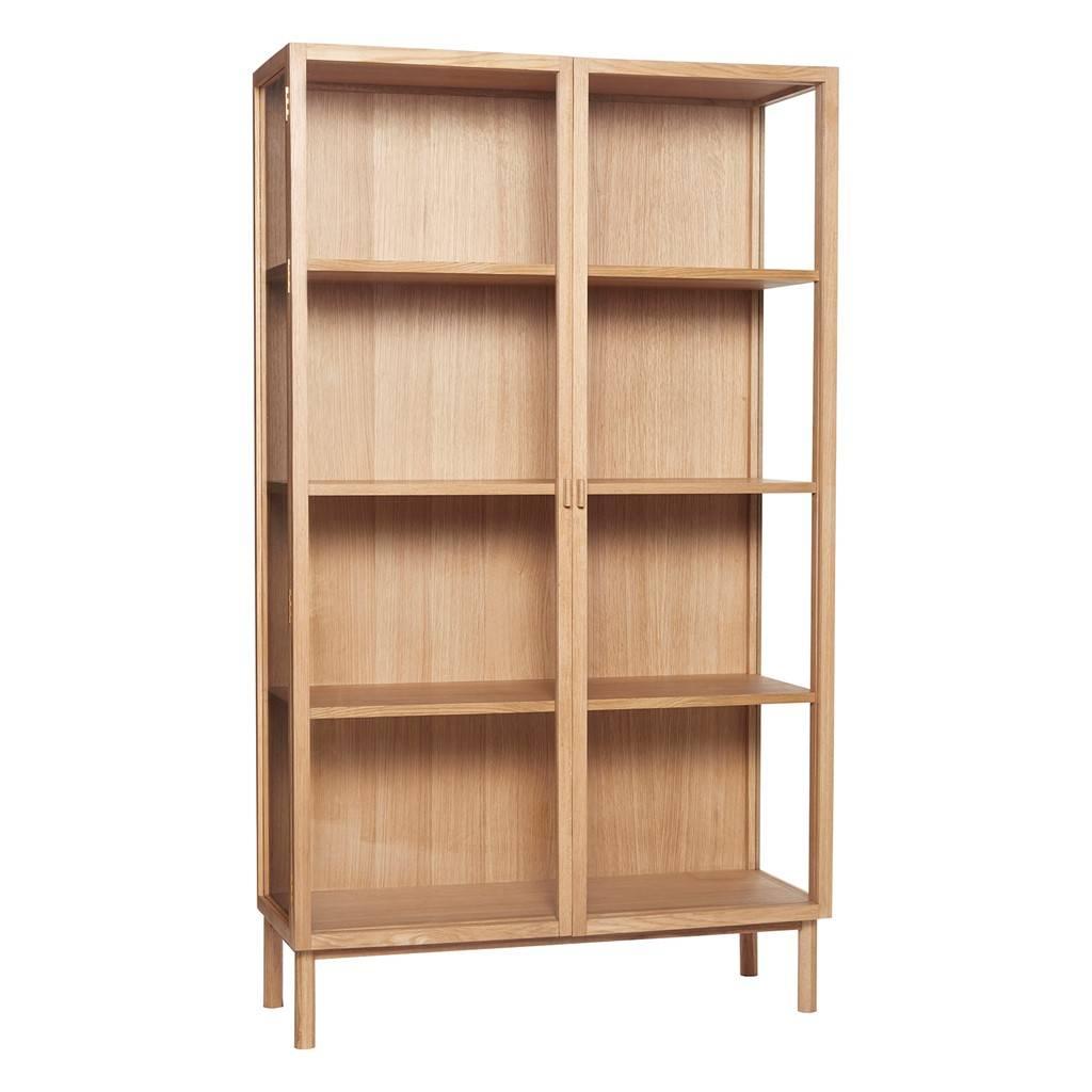 Vitrine Boekenkast Wit.Hubsch Vitrine Cabinet Oak Livv Lifestyle