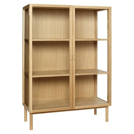 Oak display cabinet on legs - Small