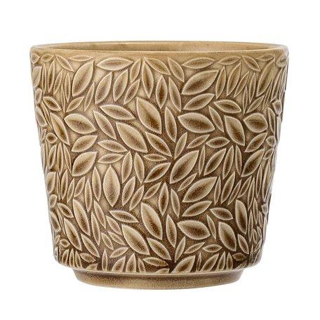 Art deco flowerpot - Brown