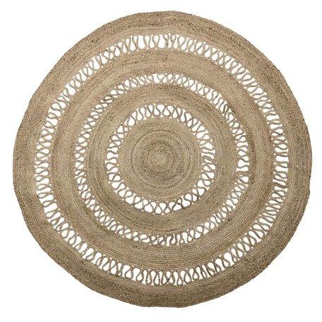 Natural Jute rug - Round