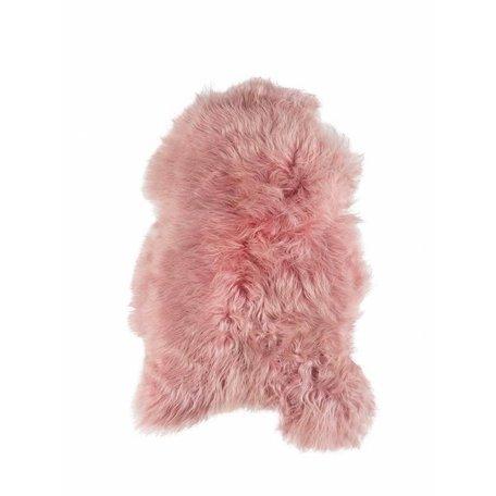 Ijslandse schapenvacht - Roze