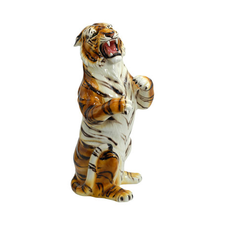 Tiger statue on hind legs