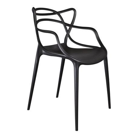 Design stoel Flinder  - Zwart