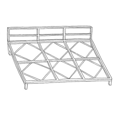 Metal frame for mattress cushions  - 120 cm x 80 cm