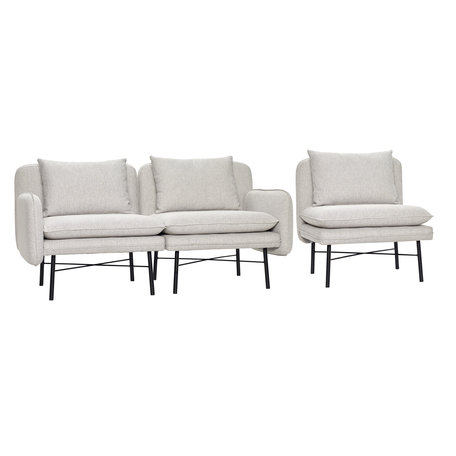 Modular sofa grey - Metal legs