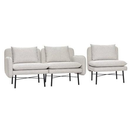 Modular sofa grey - Metal legs