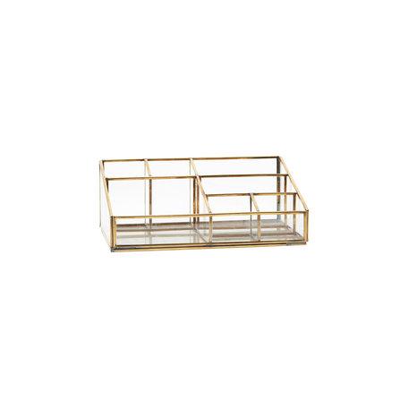 Glass organizer - Brass