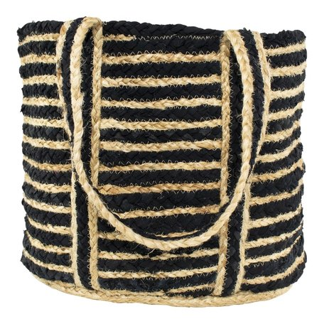 Burlab bag - Striped - Black