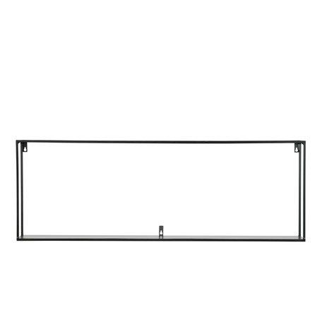 Metal wall rack - Black - 100 cm