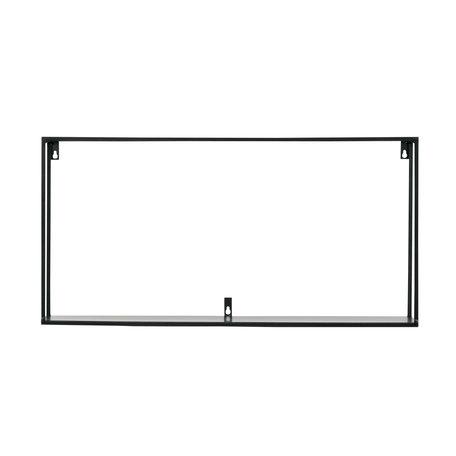 Industrial black wall shelf - 70 cm