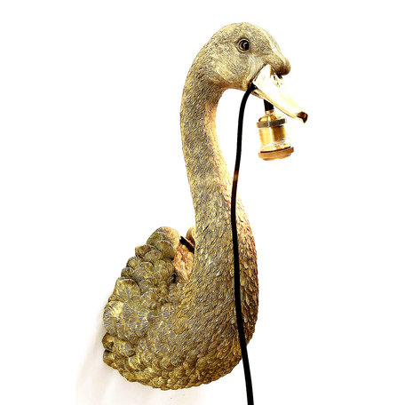 Wall lamp Swan - Gold